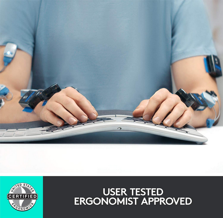 Logitech K860 Keyboard User Test Ergonomic