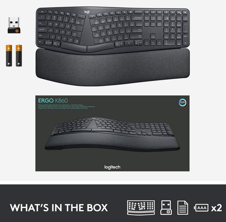Logitech K860 Keyboard-In the box