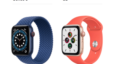compare apple watch series 6 and apple watch se