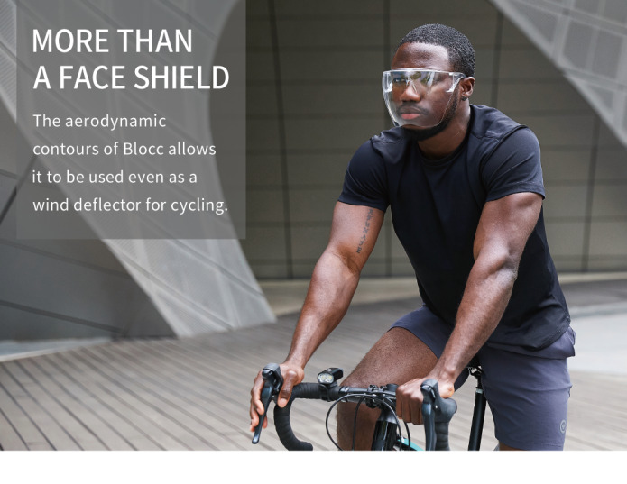 Blocc Face Shield for Cycling